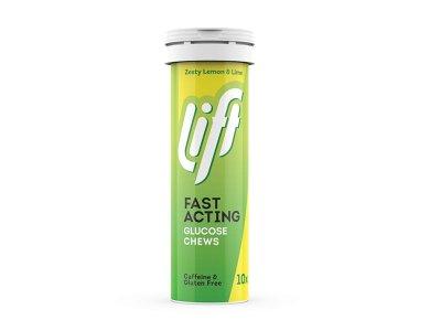 Gluco Tabs Lift Fast Acting Zesty Lemon & Lime, Ταμπλέτες Γλυκόζης με Γεύση Λεμόνι, 10tabs