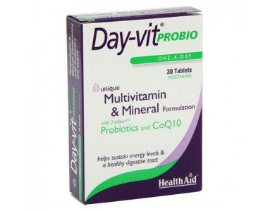 Health Aid Day-Vit Probio 2 Billion Probiotic & CoQ10, 30tabs