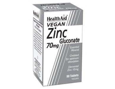 Health Aid Zinc Gluconate 70mg 90 ταμπλέτες
