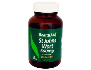 HEALTH AID ST. JOHN'S WORT 555UG HYPERICIN / 3.5MG POWDER TABLETS 30'S