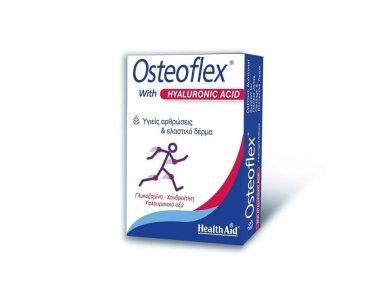 Health Aid OSTEOFLEX with HYALURONIC Γλυκοσαμίνη, Χονδροϊτίνη Υαλουρονικό οξύ 60 Tabs