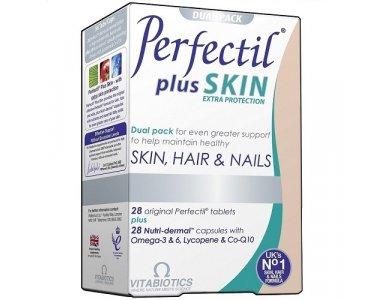 Vitabiotics Perfectil Plus Skin Extra Support, Ολοκληρωμένη Φόρμουλα για Μαλλιά Νύχια & Δέρμα 2x28 tabs