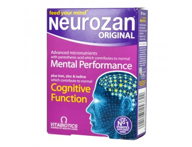Vitabiotics Neurozan Σύνθεση Θρεπτικών Συστατικών για την Υγεία του Εγκεφάλου 30 κάψουλες