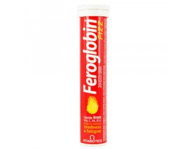 VITAΒIOTICS Feroglobin Fizz Αναβράζων Συμπλήρωμα Σιδήρου & Φυλλικού Οξέως, 20 tabs
