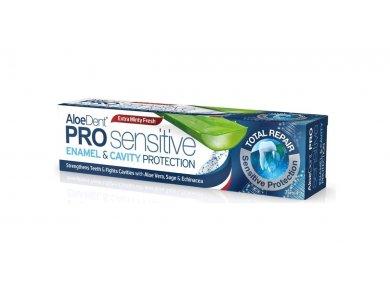 Optima AloeDent Pro Sensitive Enamel & Cavity Protection, Οδοντόκρεμα με Φυσικά Άλατα Καλίου & Φθόριο, 75ml
