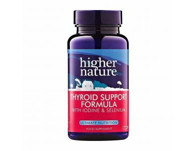 Higher Nature Thyroid support Formula Συμπλήρωμα Διατροφής για την Υγεία του Θυρεοειδούς Αδένα , 60 φυτικές κά