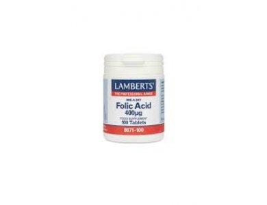 Lamberts Folic Acid 400_g Φυλλικό Οξύ 100 tablets