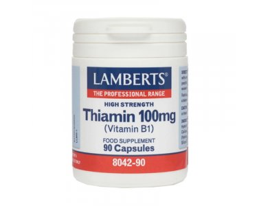 Lamberts Thiamin 100mg (B1) Θειαμίνη 90 Κάψουλες