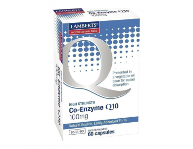 Lamberts Co-Enzyme Q10 100mg, σε μαλακές κάψουλες, 60caps