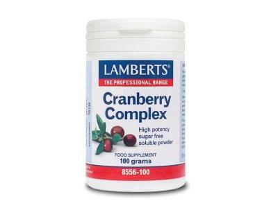 Lamberts Cranberry Complex Powder, Συμπλήρωμα Διατροφής σε Σκόνη 100gr