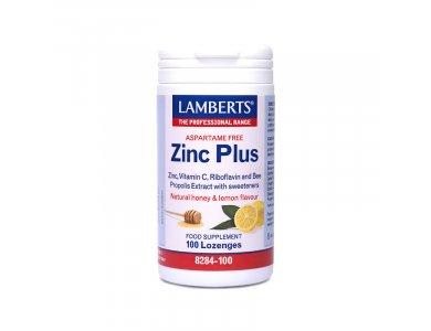 LAMBERTS Zinc Plus Lozenges 100 παστίλιες