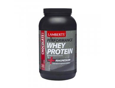LAMBERTS Perfomance Whey Protein & Magnesium Σοκολάτα, 1000gr