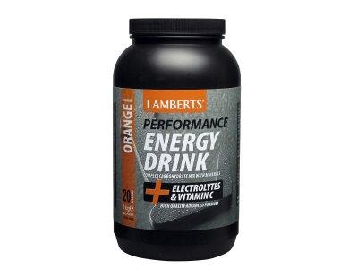 Lamberts Performance Energy Drink Orange, Ηλεκτρολύτες και Σύμπλοκοι Υδατάνθρακες, Πορτοκάλι, 1000gr