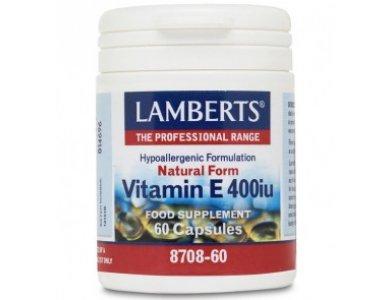 LAMBERTS E 400IU NATURAL 60CAPS