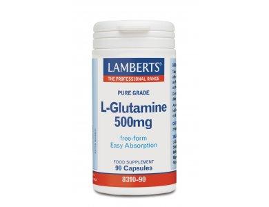 Lamberts L-Glutamine 500mg, Γλουταμίνη, 90caps