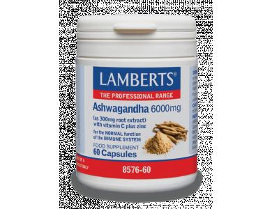 LAMBERTS Ashwagandha (Ασβαγκάντα) 600mg, 60 caps