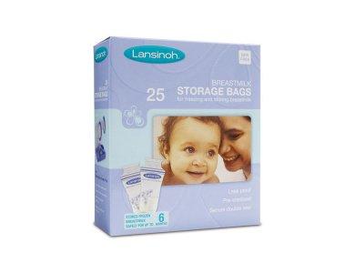 Lansinoh Σακουλάκια Αποθήκευσης Μητρικού Γάλακτος 25τμχ