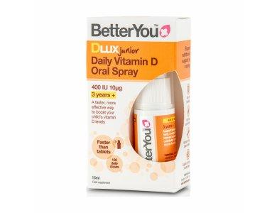 BetterYou DLux Junior Vitamin D Oral Spray Συμπλήρωμα Διατροφής με Βιταμίνη D3 για Παιδιά, σε Σπρέι, 15ml