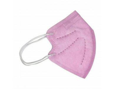 YWSH Παιδική Μάσκα Υψηλής Προστασίας KN95 - FFP2 , Ροζ, 1τμχ