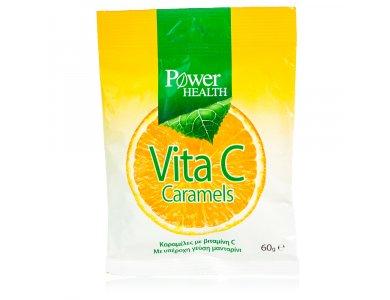 Power Health Vita C Caramels, Καραμέλες με βιταμίνη C με γεύση Μανταρίνι, 60gr