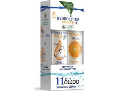 Power Health Hydrolytes Sports with Stevia & Vitamin C 500mg 20 + 20 αναβράζοντα δισκία