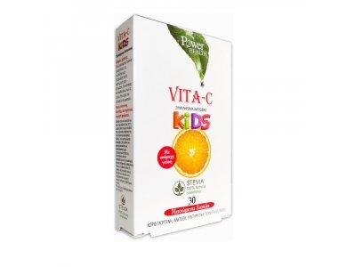 Power Health Vita-c Kids με στέβια 30 tabs