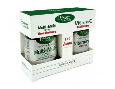Power Health Classics Platinum Range Multi+Multi Time 30tabs, +ΔΩΡΟ Vitamin C 1000mg, 20tabs