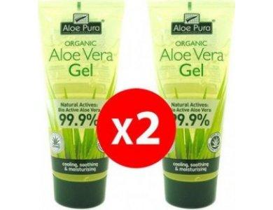 Optima PROMO Organic Aloe Vera Gel Ενυδατικό Τζελ Σώματος 2x200ml -50% Στο 2ο Προϊόν