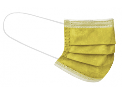 CSMED Χειρουργική Μάσκα Χρώμα Sunny Yellow (Κίτρινο του Ήλιου), Τύπου IΙ ΕΛΟΤ EN 14683+AC, 1τμχ
