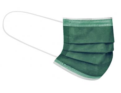 CSMED Χειρουργική Μάσκα Χρώμα Forest Green (Πράσινο του Δάσους), Τύπου IΙ ΕΛΟΤ EN 14683+AC, 1τμχ