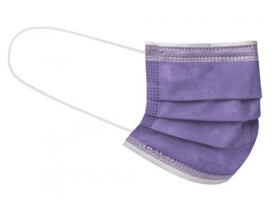 CSMED Χειρουργική Μάσκα Χρώμα Pastel Violet (Παστελ Μωβ - Βιολετί), Τύπου IΙ ΕΛΟΤ EN 14683+AC, 1τμχ