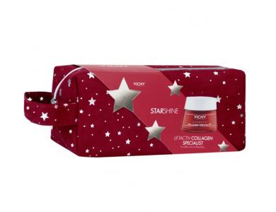 Vichy Starshine Liftactiv Collagen Specialist Αντιγηραντική Κρέμα Προσώπου με Τσαντάκι Μεταφοράς, 50ml