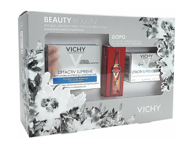Vichy Beaute Routine Liftactiv -  Supreme Cream Normal To Mixed Skin 50ml, Supreme Night 15ml & Clyco-c 2ml