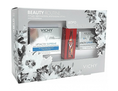 Vichy Beaute Routine Liftactiv Supreme - Cream Dry Skin 50ml, Night 15ml & Clyco-c 2ml