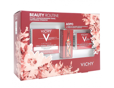 Vichy Liftactiv Collagen Specialis 50 ml & Liftactiv Collagen Specialist Night 15 ml & Liftactiv Glyco- C 2ml