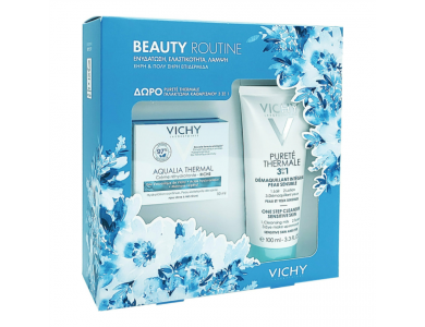 Vichy Beauty Routine Aqualia Thermal Light Rehydrating Cream 50ml & Purete Thermale 3in1 100ml
