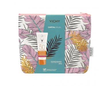 Vichy Promo Capital Soleil Anti-Ageing SPF50+ 50ml Με Δώρο Νεσεσέρ
