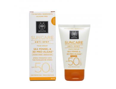 Apivita Suncare Anti-Spot Tinted Face Cream Κατά των Πανάδων με Χρώμα SPF50 με Sea Fennel & 3D PRO-ALGAE_ 50ml