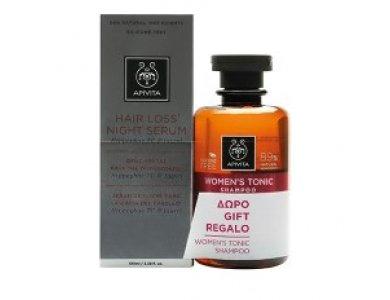Apivita PROMO Hair Loss Night Serum Ορός Νύχτας κατά της Τριχόπτωσης, 100ml & ΔΩΡΟ Women's Tonic Shampoo