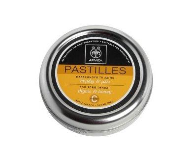 APIVITA PASTILLES Παστίλιες για τον πονεμένο λαιμό με μέλι & θυμάρι