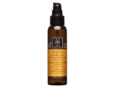 Rescue Hair Oil Λάδι Θρέψης & Επανόρθωσης για τα Μαλλιά με Αργκάν & Ελιά, 100ml