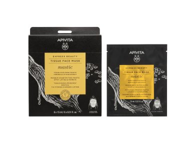Apivita Express Beauty Tissue Μάσκα Προσώπου με Μαστίχα για Σύσφιξη 15ml