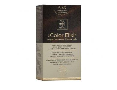 Apivita My Color Elixir 6.43 Βαφή Μαλλιών Ξανθό Σκούρο Χάλκινο Μελί