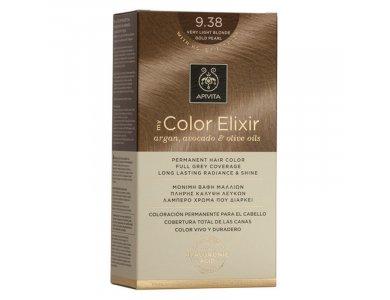 Apivita My Color Elixir Βαφή Μαλλιών, 9.38 (Ξανθό Πολύ Ανοιχτό Μελί Περλέ)