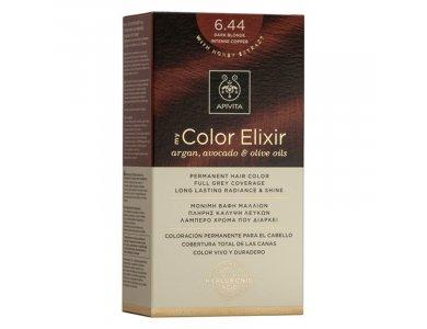 Apivita My Color Elixir Βαφή Μαλλιών, 6.44 (Ξανθό Σκούρο Έντονο Χάλκινο)