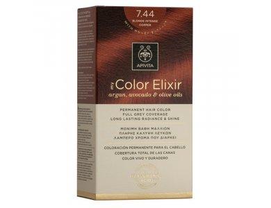 Apivita My Color Elixir Βαφή Μαλλιών, 7.44 (Ξανθό Έντονο Χάλκινο)
