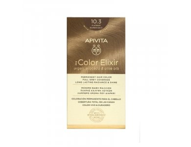 Apivita My Color Elixir Βαφή Μαλλιών, 10.3 (Κατάξανθο Χρυσό)