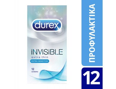 Durex Ultimate Invisible Extra Thin-Extra Sensitive 12τμχ.