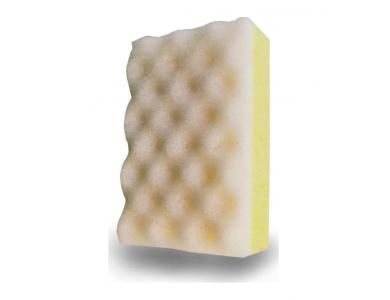 Beauty Spring Σφουγγάρι Μασάζ, Κίτρινο - Λευκό, 1 τμχ