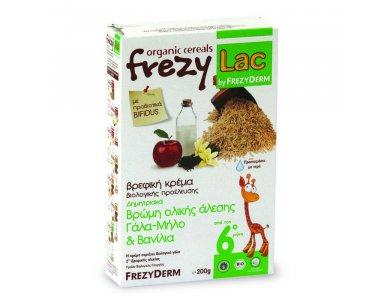 FREZYLAC BIO CEREAL Βρώμη Ολικής Άλεσης Γάλα-Μήλο & Βανίλια 200gr